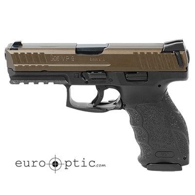 HK VP9 9mm Midnight Bronze Handgun (2) 10rd Magazines 81000138