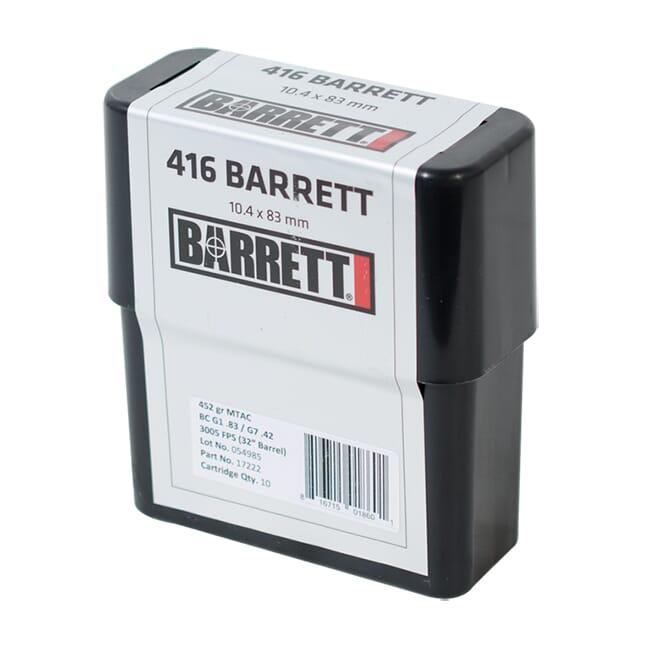 Barrett .416 Barrett Ammo CEB 452 Gr MTAC Box of 80 17221