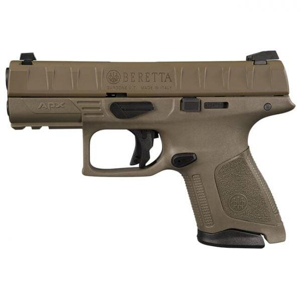 """Beretta APX Compact FDE 9mm 3.7"""" Striker Fired 10rd (2) Pistol JAXC92005"""