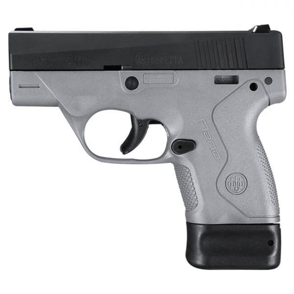 Beretta BU-9 Nano Gray 9mm Single 6+8rd Mag Pistol JMN9S95