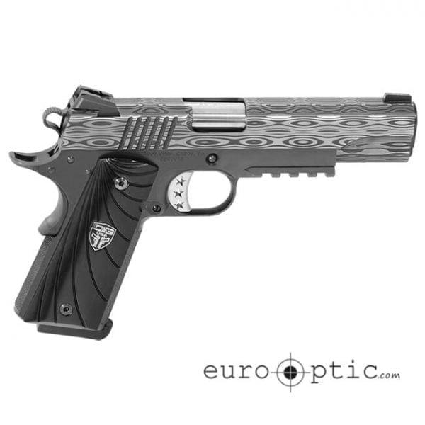 "Cabot - The Ultimate Bedside Tactical Government 5"" Ebony Fibonacci Grips Low Mount Adjustable Rear Sight Tritium Pistol"