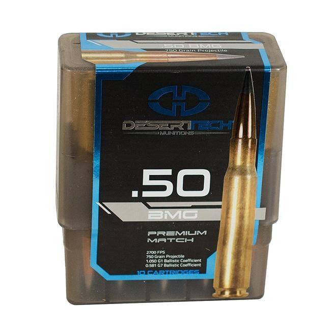 DTM .50 BMG 750GR PTS Match Ammunition Case 100RD