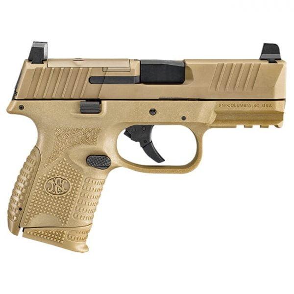 FN 509 Compact MRD 9mm NMS FDE/FDE Pistol w/ (1) 12Rd & (1) 15Rd Mag 66-100574