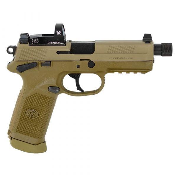 FN FNX-45 Tactical .45 ACP FDE/FDE NS Pistol with 2X15 Vortex Venom Red Dot 66-100659