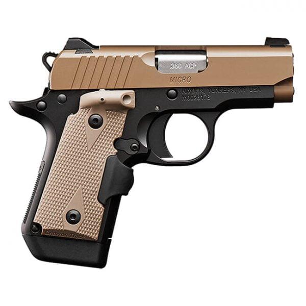 Kimber Micro Desert Tan (LG)(NS) .380 ACP Pistol 3300209