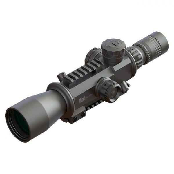 March Genesis Tactical 4-40x52G FML-TR1 Reticle 0.1 Mil Illuminated FFP Riflescope D40V52GFIML