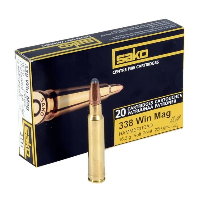 Sako 338 Win Mag 250gr Hammerhead Rifle Ammunition