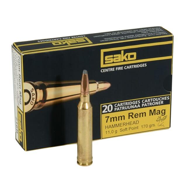 Sako 7mm Rem Mag 170gr Hammerhead Rifle Ammunition
