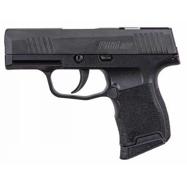 Sig Sauer P365 SAS 9mm Micro-Compact Black Pistol w/ (1) 10rd Flush & (1) 10rd Extended Mag 365-9-SAS-C