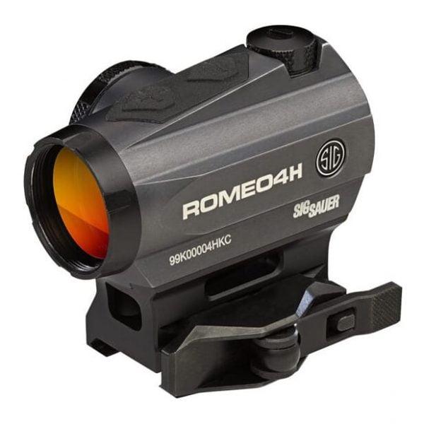 Sig Sauer Romeo4H Red Dot Sight Green Horseshoe Dot 0.5 MOA Graphite SOR43013