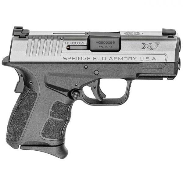 "Springfield Armory XDS 9mm MOD.2 3.3"" Stainless Tritium Night Sight Pistol (w/ 2 Magazines) XDSG9339ST"