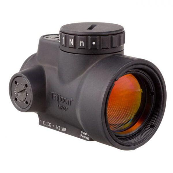 Trijicon 1x25 MRO 2.0 MOA ADJ Red Dot w/ MRO Low & 1/3 Cowitness Mounts 2200011