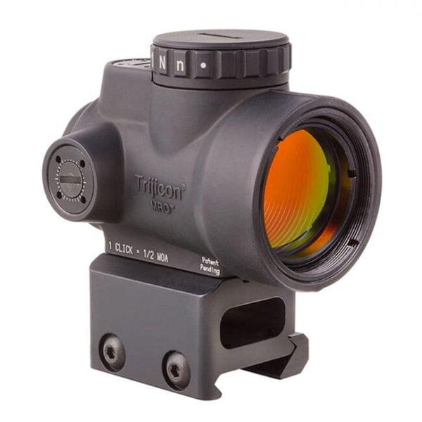 Trijicon 1x25 MRO 2.0 MOA Adj Red Dot w/Full Cowitness Mount AC32068 MRO-C-2200005