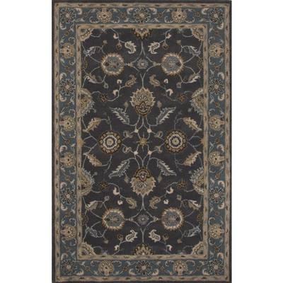 "Classic Oriental Blue Wool Area Rug, ""Midnight Orient"""
