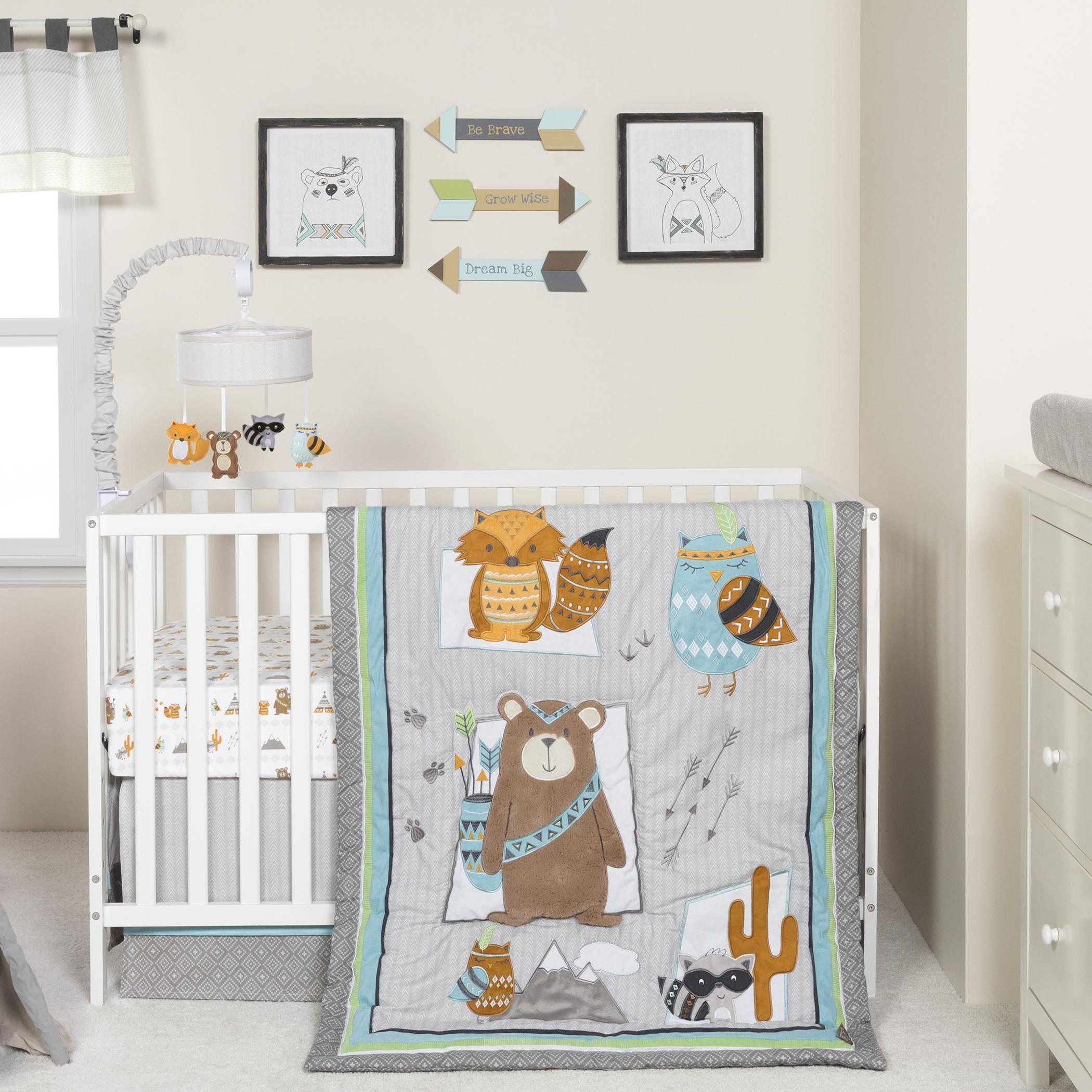 Lodge Buddies 3 Piece Crib Bedding Set