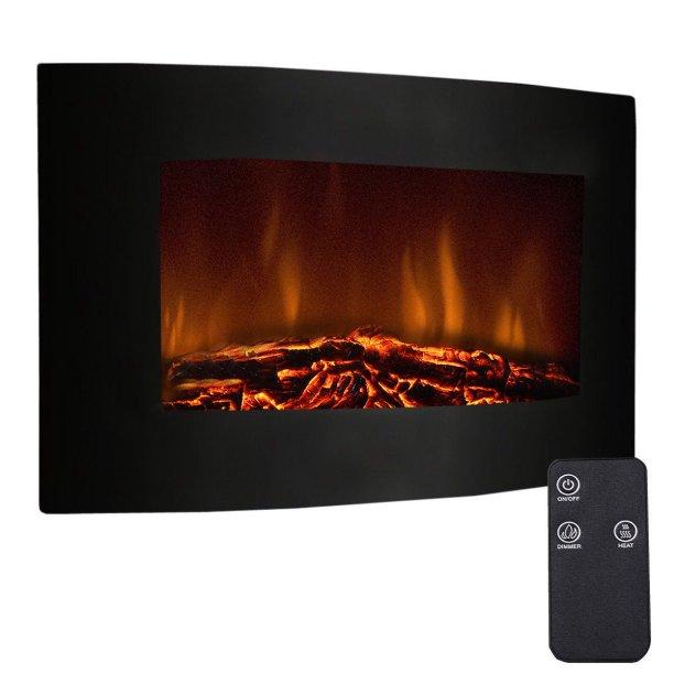 "Goplus 35"" Xl Large 1500w Adjustable Electric Wall Mount Fireplace Heater"