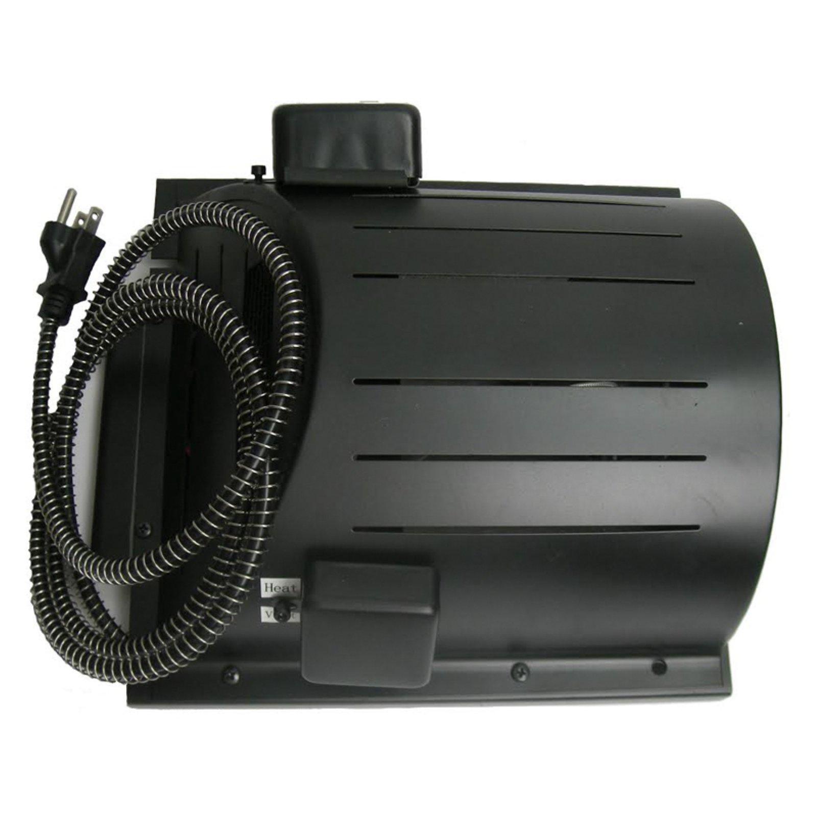 """AKOMA Heat-N-Breeze Dog House Heater and Fan, Black, 10""""L x 10""""W x 4.5""""H"""
