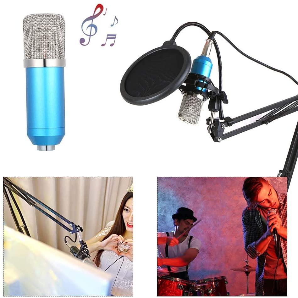 B093HJW7DZ Professional BM700 Condenser Microphone Sound Recording Microphone Mic KTV Singing Studio Recording Kit White (Color : Black)